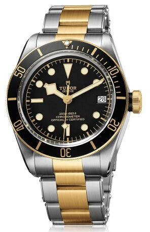 Replique Montre Tudor Heritage Black Bay Or jaune 41mm 79733N-002