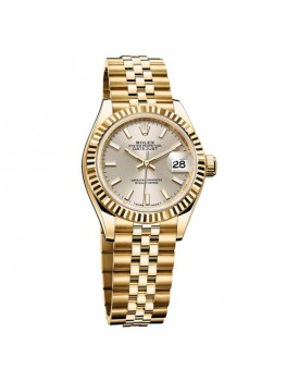Replique Montre Rolex Oyster Perpetual Lady-Datejust 28 Or jaune 279178–63348