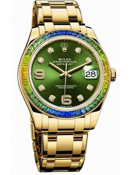 Replique Montre Rolex Oyster Perpetual Datejust Pearlmaster 39 86348 SABLV-42748