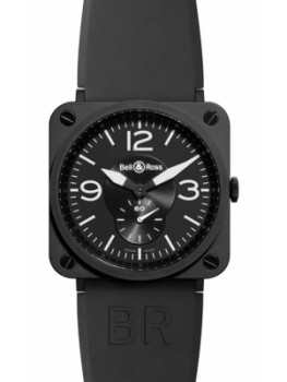Replique Montre Bell & Ross BR S Quartz 39mm Midsize BRS Ceramic Noir mat