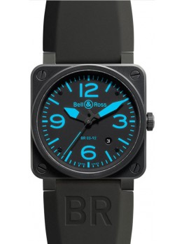 Replique Montre Bell & Ross Aviation 42MM BR 03-92 Bleu Carbon