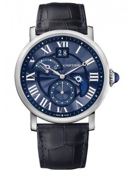 Replique Montre Cartier Rotonde de Cartier Second Time Day Zone/Nuit Blue Heaven W1556241