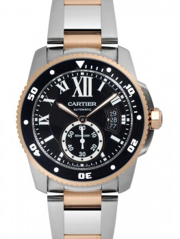 Replique Montre Cartier Calibre de Cartier Diver 42mm en or rose et acier W7100054