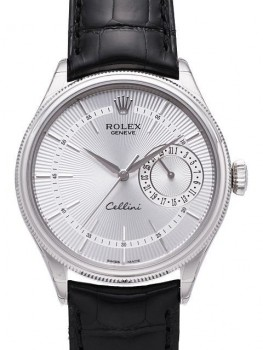 Replique Montre Rolex Cellini Date en or blanc 50519 sbk