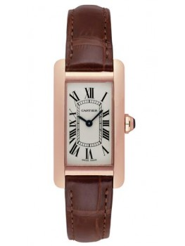 Replique Montre Cartier Tank Americaine Or rose Femmes W2607456