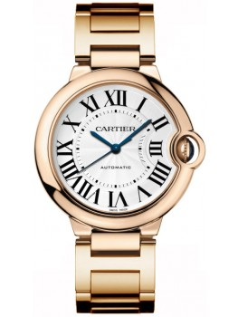 Replique Montre Cartier Ballon Bleu Medium Or rose W69004Z2