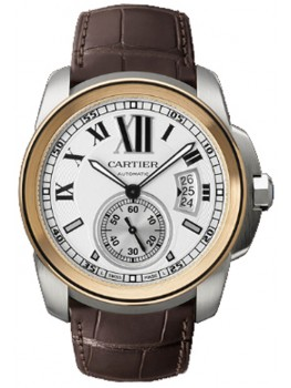Replique Montre Cartier Calibre de Cartier Steel & Rose Or Automatique W7100011