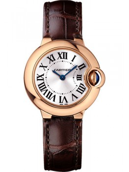 Replique Montre Cartier Ballon Bleu 28mm Or Rose Dames WGBB0007