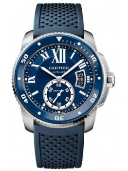 Replique Montre Cartier Caliber de Cartier Diver Bleu Homme 42 mm WSCA0011