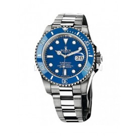 Replique Rolex Submariner Date 116619LB-97209 cadran bleu