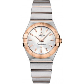 Replique Montre Omega Constellation Quartz brossé 27mm Dames 123.20.27.60.02.001