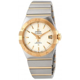 Replique Montre Omega Constellation Automatique Cadran Blanc Opalin Homme 123.20.38.21.02.006