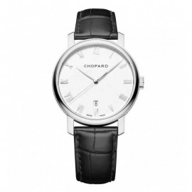 Replique Chopard Classic Blanc Cadran 18K Blanc Or 40mm Dames 161278-1001