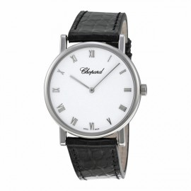Replique Chopard Classic hand-wound in 18-carat Blanc Or 163154-1001