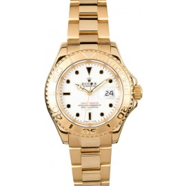 Rolex Yachtmaster or 18k 16628 Replique