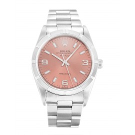 Copie Rolex Air-King Saumon Trimestre Arabe Oyster Acier Unisexe 14010