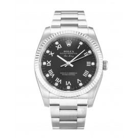 Copie Rolex Air-King Noir Diamant Oyster Acier Unisexe 114234
