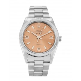 Copie Rolex Air-King Saumon Trimestre Arabe Oyster Acier Unisexe 14010M