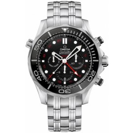 Copie Omega Seamaster Diver 300m Co-Axial GMT Chronographe 44mm 212.30.44.52.01.001