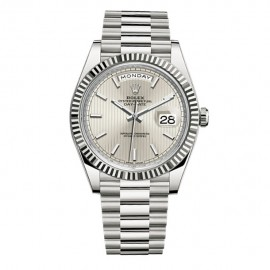 Rolex Day-Date Ice quadrant bleu motif cadran Platinum automatique 228206RD Replique