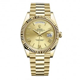 Rolex Day-Date 40 Automatique Champagne Dial 18kt Yellow 228238CR Replique