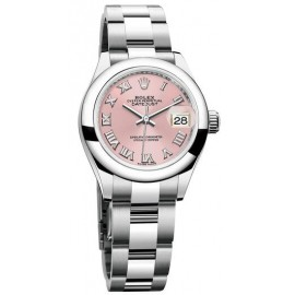 Replique Montre Rolex Oyster Perpetual Lady-Datejust 28 Cadran Rose 279160