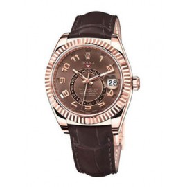 Rolex Sky-Dweller 42mm Everose Or Chocolat Dial 326135 Replique