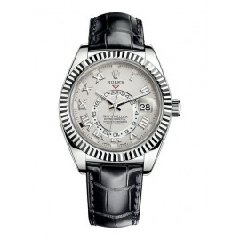 Replique Montre Rolex Sky-Dweller Or blanc Cote d'Ivoire Cadran Romain 326139