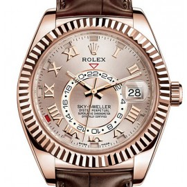 Rolex Sky-Dweller Sundust Dial 18K Everose Or Automatique 326935 Replique