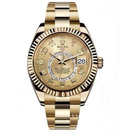 Rolex Oyster Perpetual Sky-Dweller 42mm or jaune 326938-72418 Replique