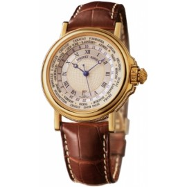 Breguet Marine Hora Mundi 24 Time Zones Or jaune 3700BA/12/9V6 Replique