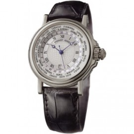 Breguet Marine Hora Mundi 24 Time Zones Or blanc 3700BB/12/9V6 Replique