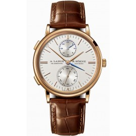 Copie A.Lange & Sohne Saxonia Dual Time Or rose 386.032