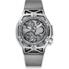 Copie Hublot Techframe Ferrari Tourbillon Chronographe Sapphire White Gold 408.JW.0123.RX