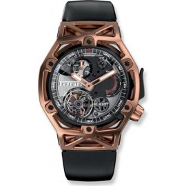 Replique Montre Hublot Techframe Ferrari Tourbillon Chronographe King Gold 45mm 408.OI.0123.RX