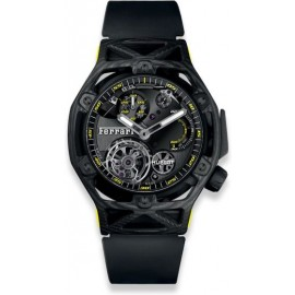 Copie Hublot Techframe Ferrari Tourbillon Chronographe Carbon Jaune 408.QU.0129.RX