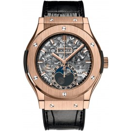 Replique Montre Hublot Classic Fusion Aerofusion Moonphase King Gold 517.OX.0180.LR