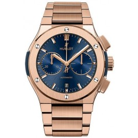 Replique Montre Hublot Classic Fusion Chronographe Bleu King Gold Bracelet 520.OX.7180.OX