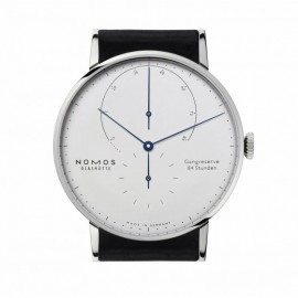 Copie Nomos Lambda 42 mm Or blanc Hommes 933