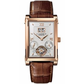 Copie A.Lange & Sohne Cabaret Tourbillon Manuel Rose Or 703.032