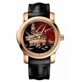 Replique Montre Ulysse Nardin Classic Minute Repeater Rose Or Oil 736-61/E2-OIL