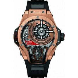 Replique Montre Hublot MP-09 Tourbillon Bi-Axis King Gold 49 mm 909.OX.1120.RX