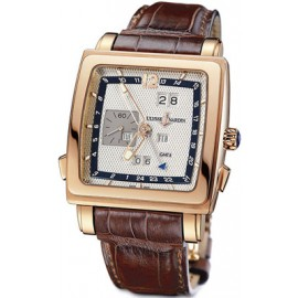 Ulysse Nardin Quadrato Dual Time Perpetual 326-90/61 Montre Replique