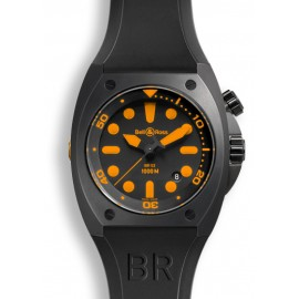 Copie Bell & Ross Marine BR 02-92 orange Carbon