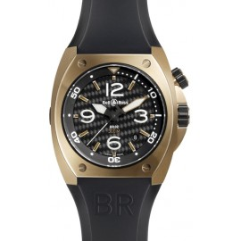 Copie Bell & Ross Marine automatique Homme BR 02-92 Rose Gold & Carbon