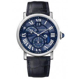 Copie Cartier Rotonde de Cartier Second Time Day Zone/Nuit Blue Heaven W1556241