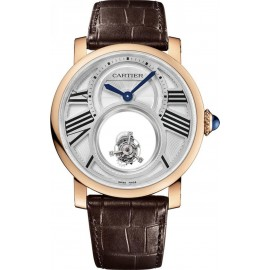Copie Cartier Rotonde de Cartier Mysterious Double Tourbillon W1556230