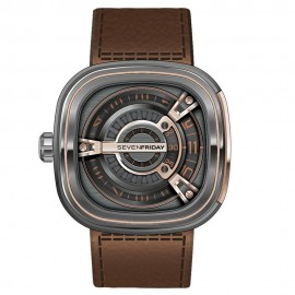 Replique Montre SevenFriday M2-2 en acier inoxydable/PVD et or rose