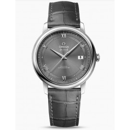 Omega De Ville Prestige Co-Axial 39.5 mm Acier on Bracelet en cuir 424.13.40.20.06.001 Montre Replique