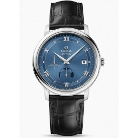 Omega De Ville Prestige Co-Axial Power Reserve 39.5 mm Cadran Bleu 424.13.40.21.03.002 Montre Replique